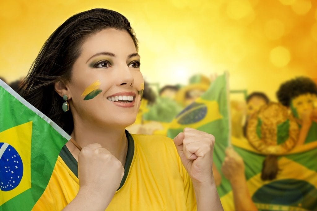 Presença da mulher como fã do esporte brasileiro